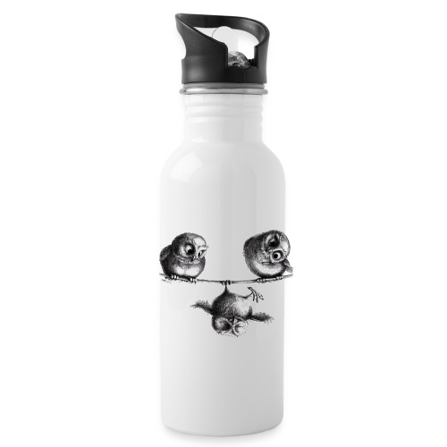 three owls - freedom and fun - Water Bottle