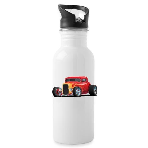 Classic Bold Red Custom Street Rod - Water Bottle