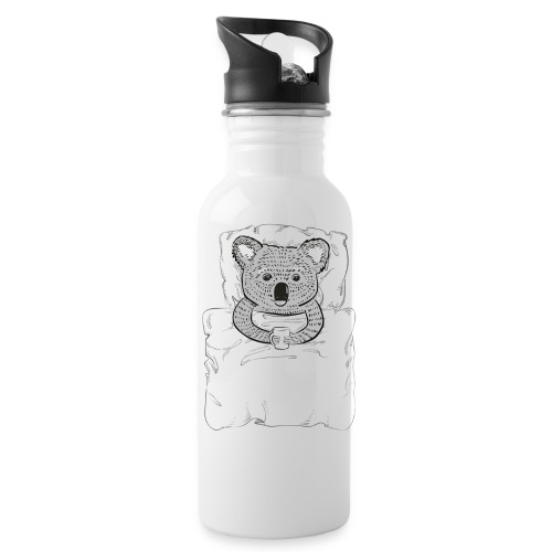 Print With Koala Lying In A Bed - Water Bottle