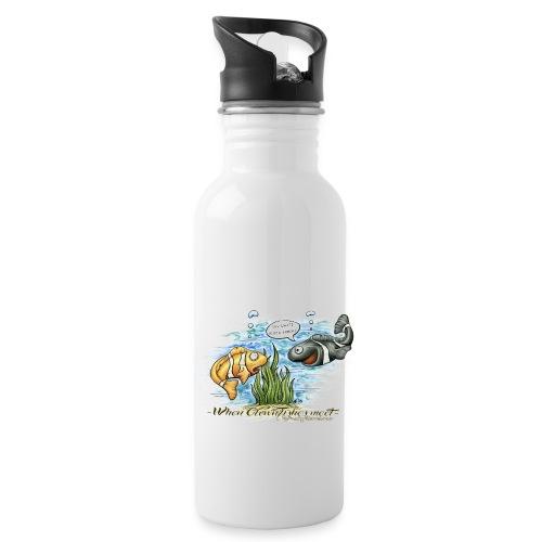 when clownfishes meet - Water Bottle