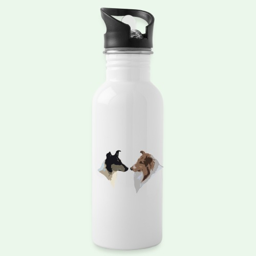 Rough Smooth Collie head - Water Bottle
