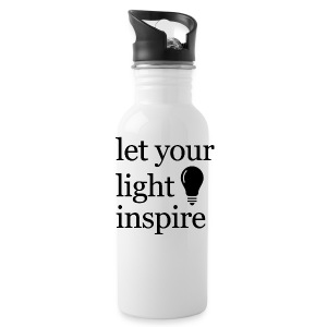 Let Your Light Inspire Sports Tank (black font) - Water Bottle
