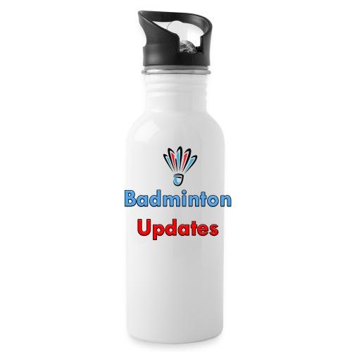 Badminton Updates Logo - Water Bottle