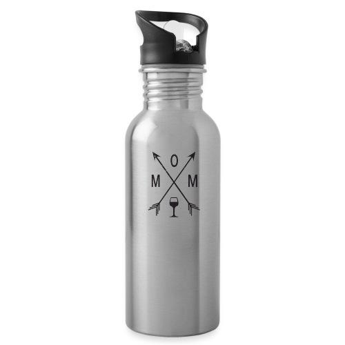 Mom Loves Wine (black ink) - Water Bottle