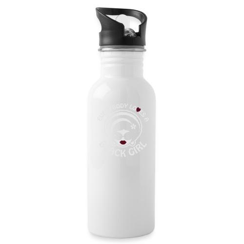 Everybody Loves A Black Girl - Version 1 Reverse - Water Bottle