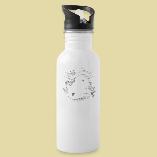 hoh_tshirt_skullhouse - Water Bottle