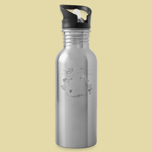 hoh_tshirt_skullhouse - Water Bottle