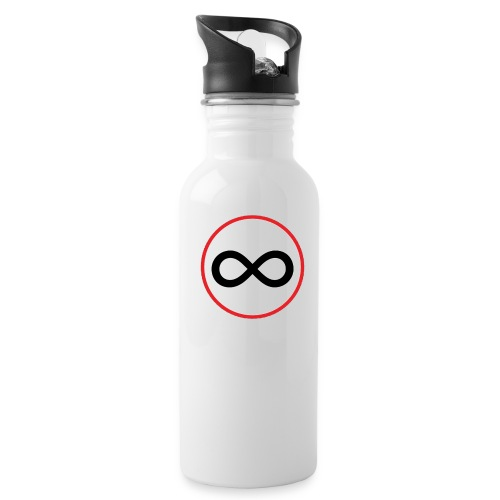 Infinity sign red circle - Water Bottle