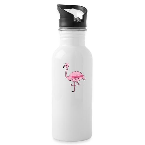 Polka Dotted Flamingo - Water Bottle