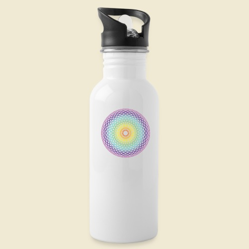 Torus Yantra Hypnotic Eye rainbow - Water Bottle