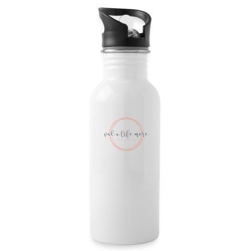 Val U Life More logo - Water Bottle