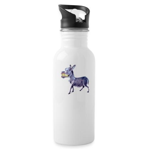 Funny Keep Smiling Donkey - Water Bottle