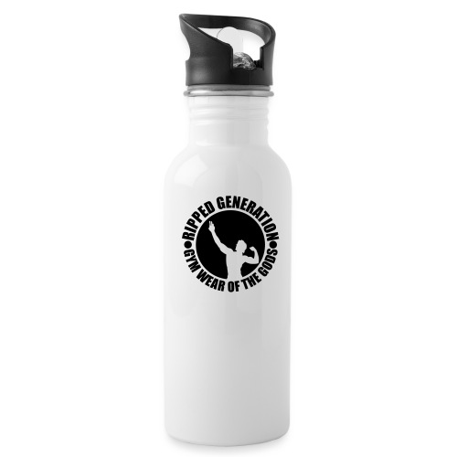 Ripped Generation Gym Wear of the Gods Badge Logo - Water Bottle