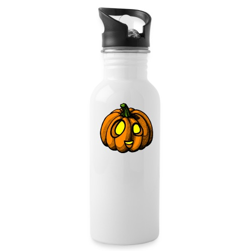 Pumpkin Halloween scribblesirii - Water Bottle