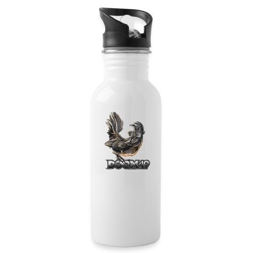 DooM49 Black and White Chicken - Water Bottle