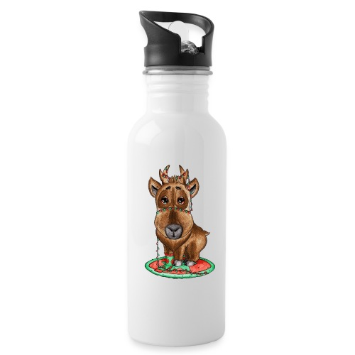 reindeer refined scribble - Water Bottle