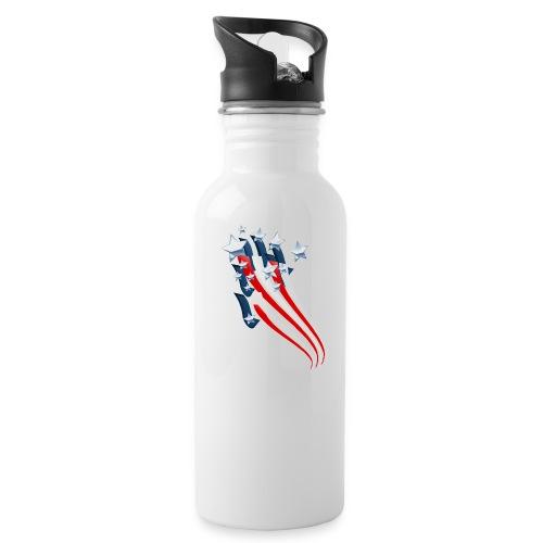 Sweeping American Flag - Water Bottle