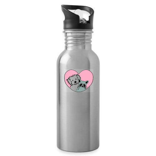 Raccoon And Dog - Water Bottle