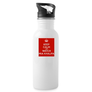 keep-calm-and-watch-mia-khalifa - Water Bottle