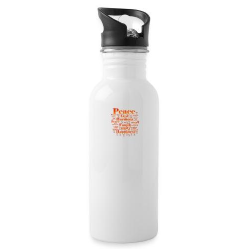 PEACE LOVE HARMONY - Water Bottle