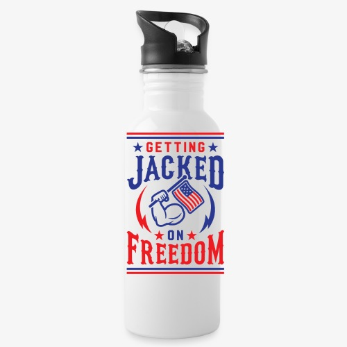 Getting Jacked On Freedom - Water Bottle