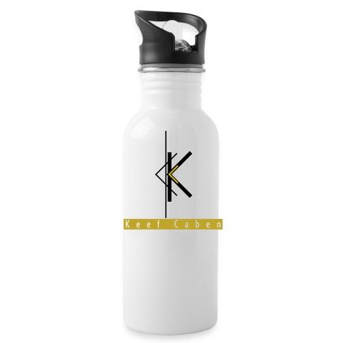 Keef Caben Logo plus name - Water Bottle