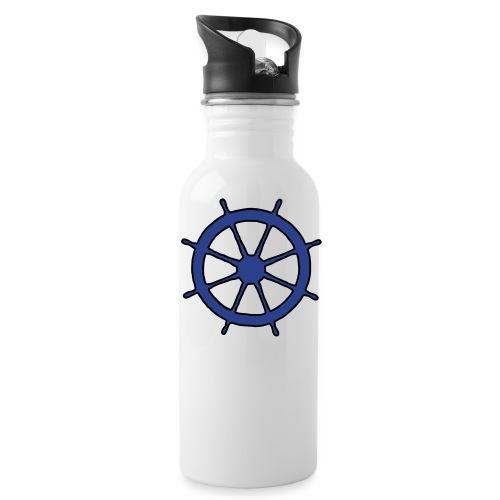 Steering Wheel Sailor Sailing Boating Yachting - Water Bottle