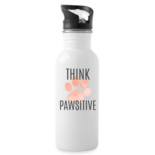 think pawsitive png - Water Bottle