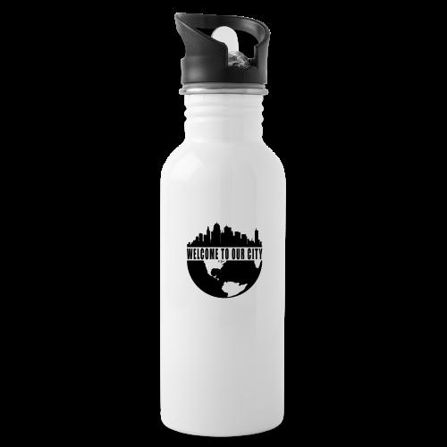 WTOC Logo Black - Water Bottle