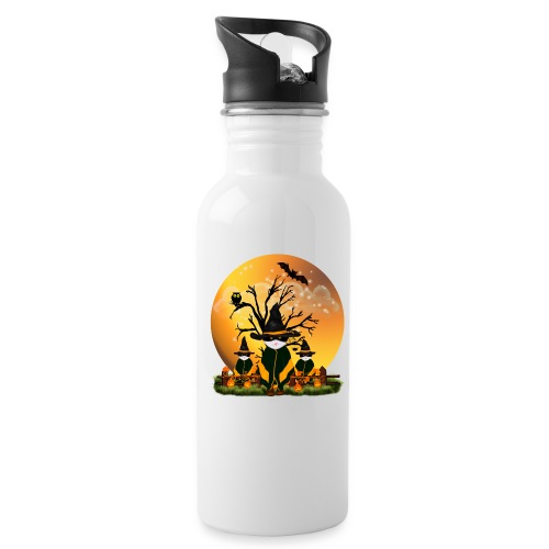 Happy Halloween with 3 masked cats - Water Bottle