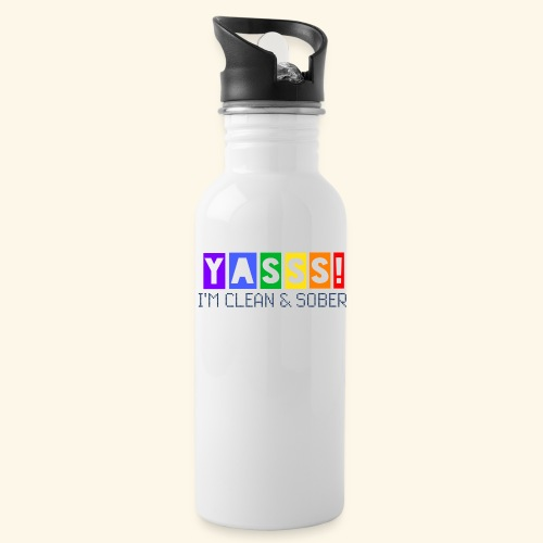 YASSS! Clean & Sober - Water Bottle