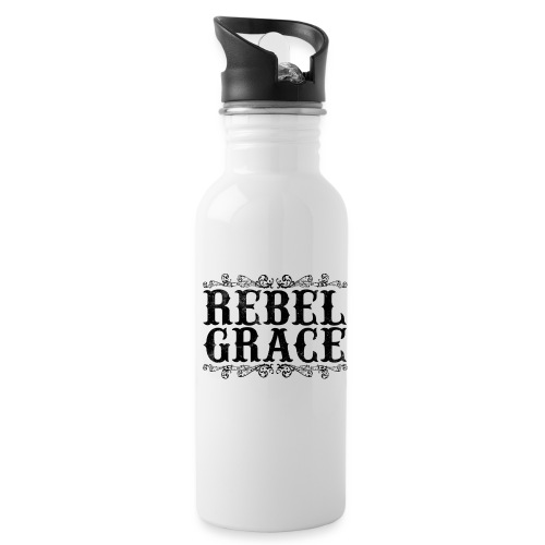 Black Filigree - Water Bottle