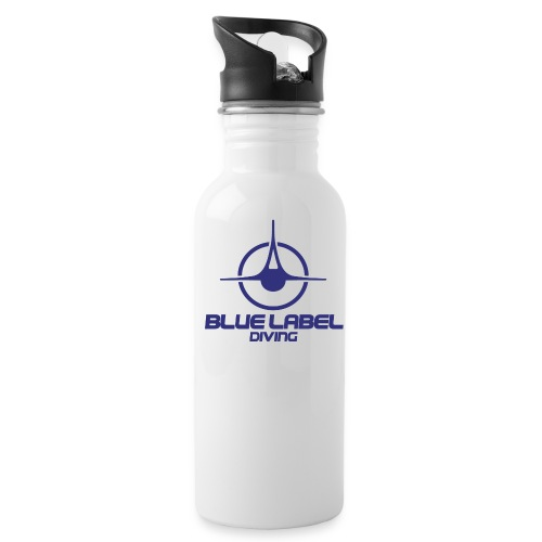 BLD logo with text blue - Water Bottle
