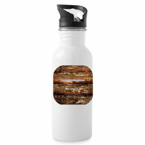 """InovativObsesion """"LOGGED IN"""" apparel - Water Bottle"""