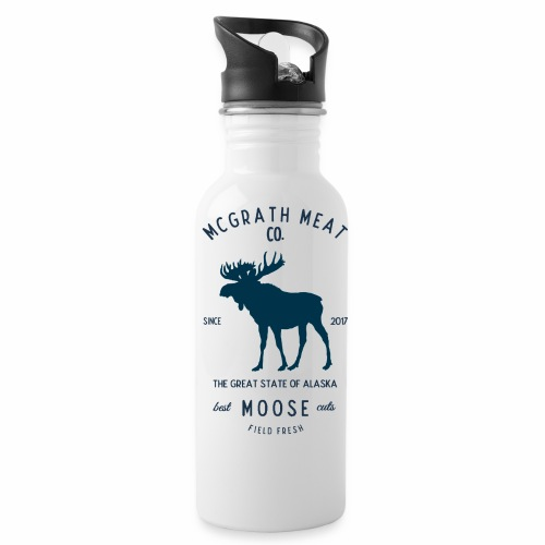 McGrath Meat Company Blue Stamp Logo - Water Bottle
