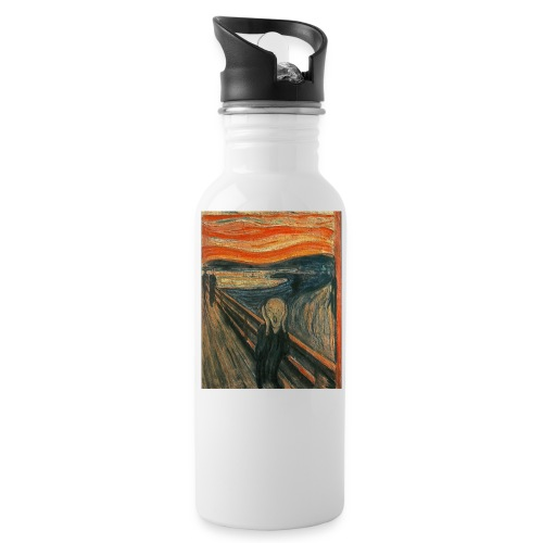 The Scream (Textured) by Edvard Munch - Water Bottle