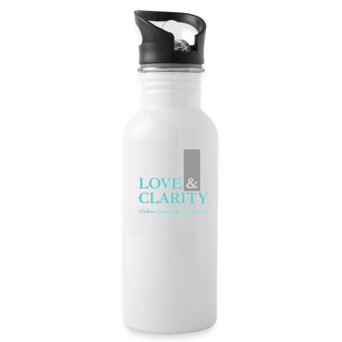 large logo wht - Water Bottle