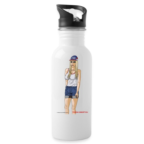 Gina Character Design - Water Bottle