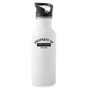 Property of Brazzers logo solid - Water Bottle