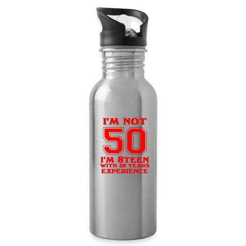 8teen red not 50 - Water Bottle