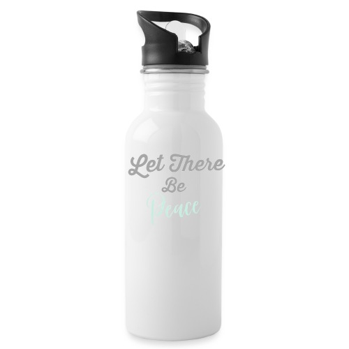 Limited Edition Let There Be Peace heart design - Water Bottle