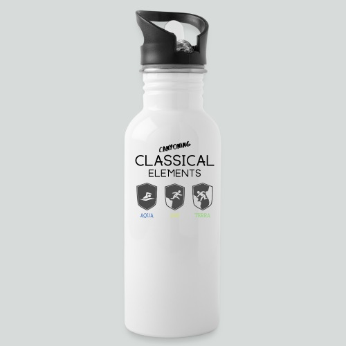 CLASSICAL ELEMENTS-on light back-2 side- all badge - Water Bottle