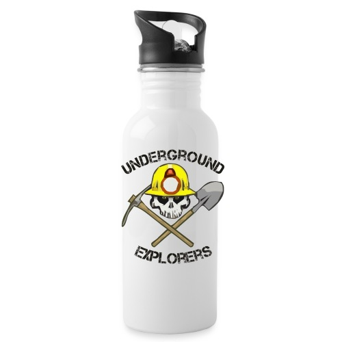 Miner Logo Black Text 08 20 14 png - Water Bottle