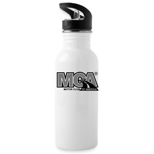 MCA Logo WBG Transparent BLACK WHITE TITLEfw fw pn - Water Bottle