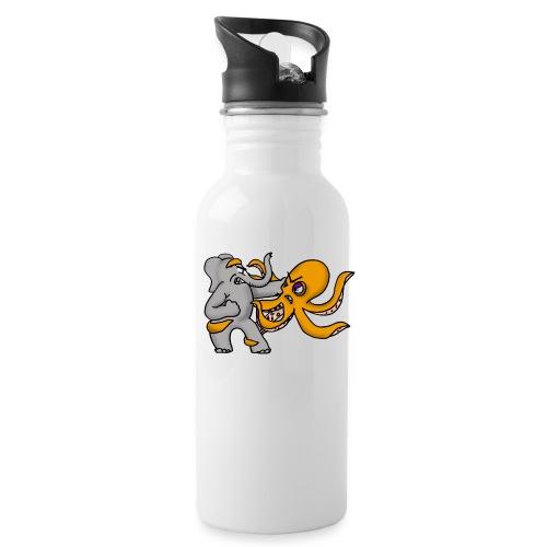 Elephant vs. Octopus Mug - Water Bottle