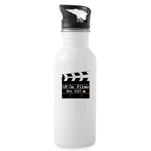 G M co Films logo + Subscribe combo - Water Bottle