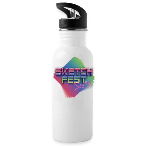 SketchFest2016 Tshirt 2500x2500 png - Water Bottle