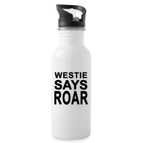 Westie Says ROAR - Water Bottle