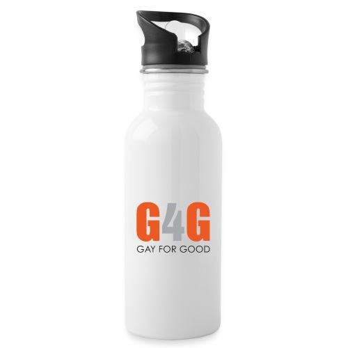 Gay For Good Logo Blk - Water Bottle