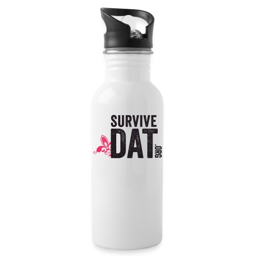 survive dat final logo stacked org color notag out - Water Bottle